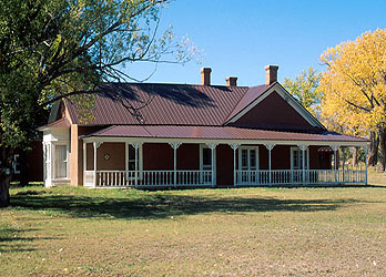 Lucien Maxwell's House (1850's) on Santa Fe trail in Rayado, New Mexico